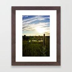Wolf Lake Sunset Framed Art Print