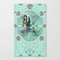 Mermaid Deco Canvas Print