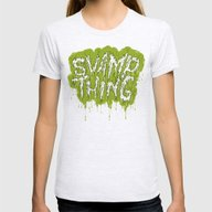 Swamp Thing Womens Fitted Tee Ash Grey SMALL