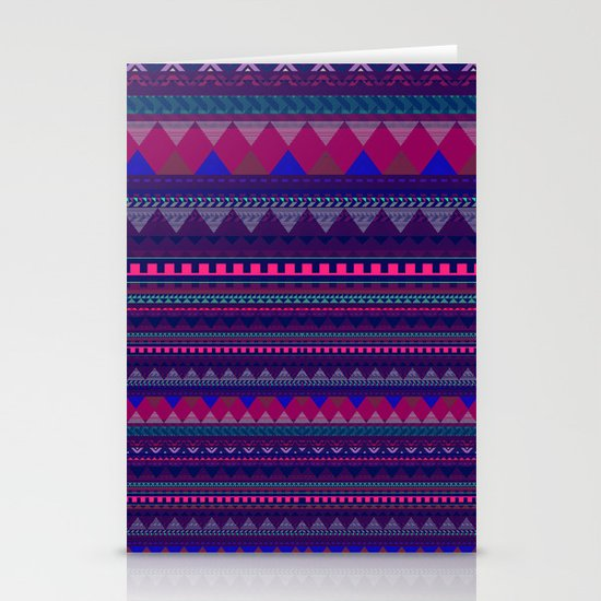KNITTED AZTEC PATTERN  Stationery Card