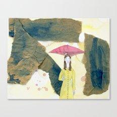 Floating: Rain Canvas Print