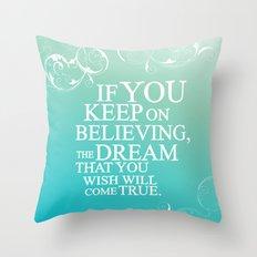 Believing.. Cinderella Q… Throw Pillow