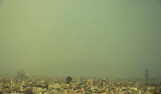 Barcelona Skyline Art Print
