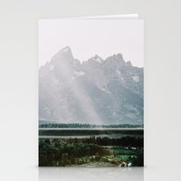 Afternoon Sun Over Teton Mountains Stationery Cards