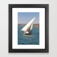 Framed Art Print featuring Nile Cruising by David Tinsley