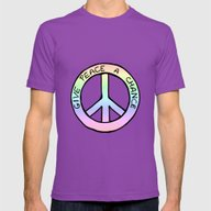 Give Peace A Chance Mens Fitted Tee Ultraviolet SMALL