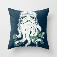 Stormthulhu Throw Pillow