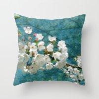 Blossom Textured Throw Pillow