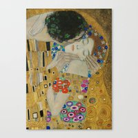 Gustav Klimt - The Kiss (detail) Canvas Print