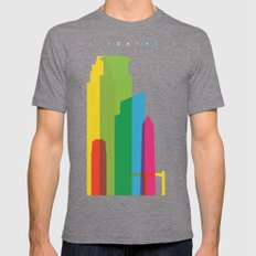 Shapes of Minneapolis Mens Fitted Tee Tri-Grey SMALL