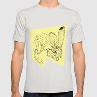 Yellow Hare Mens Fitted Tee Silver SMALL