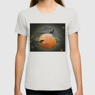 Pumpkin And Crows Womens Fitted Tee Silver SMALL