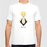 Marilyn Mens Fitted Tee White SMALL