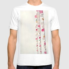 prayer flags no. 2 Mens Fitted Tee White SMALL