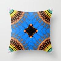 Abstract Blue Mandala Pa… Throw Pillow
