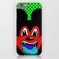 MOUSE SICK.  (On Green). iPhone 6 Slim Case
