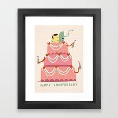 Happy Anniversary Framed Art Print