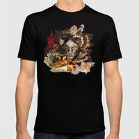 Venetian Mask Mens Fitted Tee Black SMALL