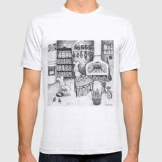 Baking Cats Mens Fitted Tee Ash Grey SMALL