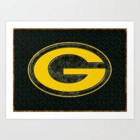 Green Bay Packers Logo Art Print