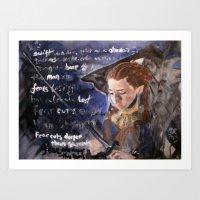 Fear Cuts Deeper Than Sw… Art Print