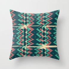 Zig Zags Pattern Press Print Throw Pillow