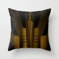Guangzhou (China) Throw Pillow