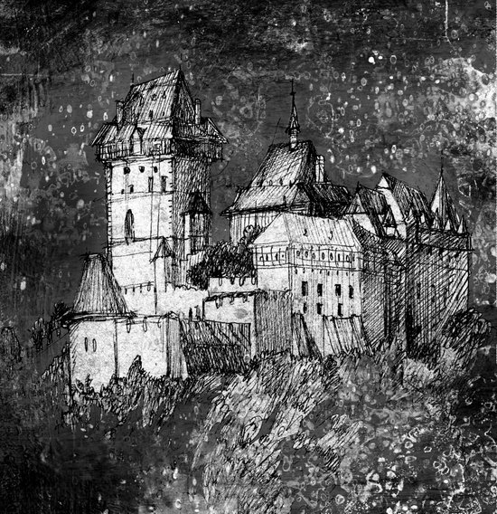 night castle Art Print