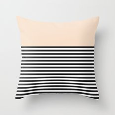 STRIPE COLORBLOCK {CREAM} Throw Pillow