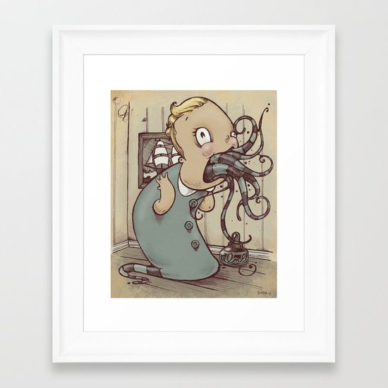 The Monitor and the Merimack Framed Art Print