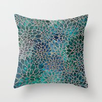 Floral Abstract 4 Throw Pillow
