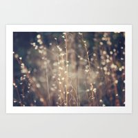 Sparkling Fairy Lights Art Print