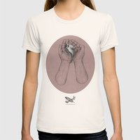 Hes got the whole bird in his hands Womens Fitted Tee Natural SMALL