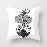 Hypnoisland Throw Pillow