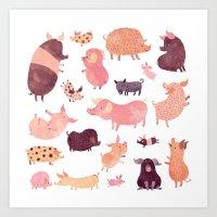 Pig Pig Pig  Art Print