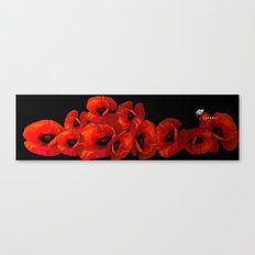 ELEVEN RED POPPIES Canvas Print