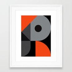 Letter R Framed Art Print