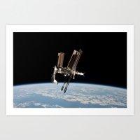 Space Station Art Print