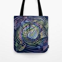 Bird Swirl Tote Bag