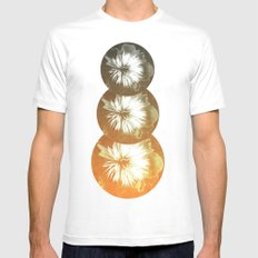 rusty circles Mens Fitted Tee SMALL White