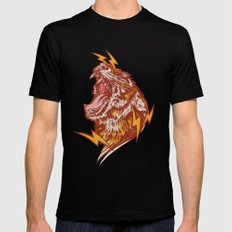 Tiger Shock SMALL Black Mens Fitted Tee