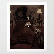 Pretend to Sleep Art Print