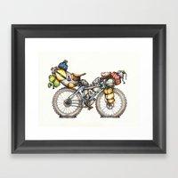 Bikepacking Full Color!! Framed Art Print