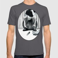 One Imbecile Less Mens Fitted Tee Asphalt SMALL