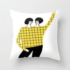 Dancing with myself Throw Pillow