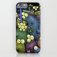 iPhone & iPod Case featuring Crowded Aliens by Billy Allison