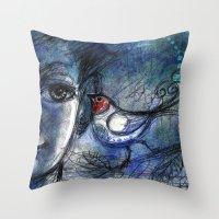 A bird told me... Throw Pillow