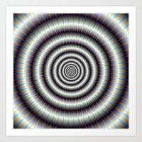 Hypnotic Rings Art Print