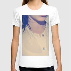 BLOUSE Womens Fitted Tee White SMALL