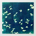 Retro Birds Canvas Print